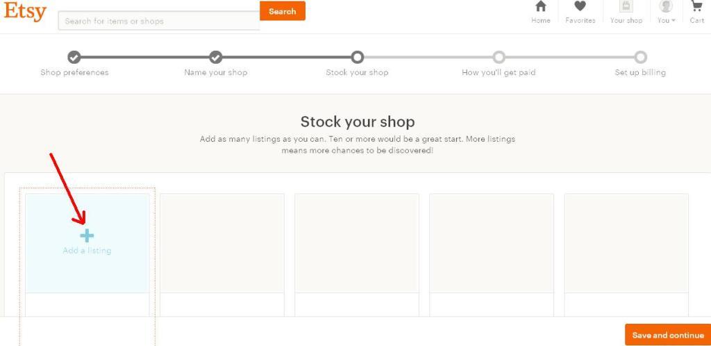 Как открыть Etsy магазин - Stock your shop