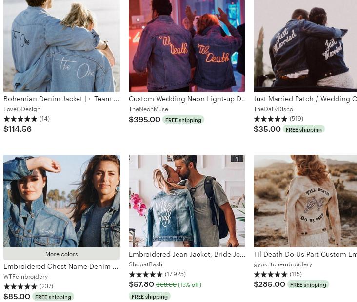 4 Etsy тренд 2020 Coordinated couples' coats Жакеты для пары