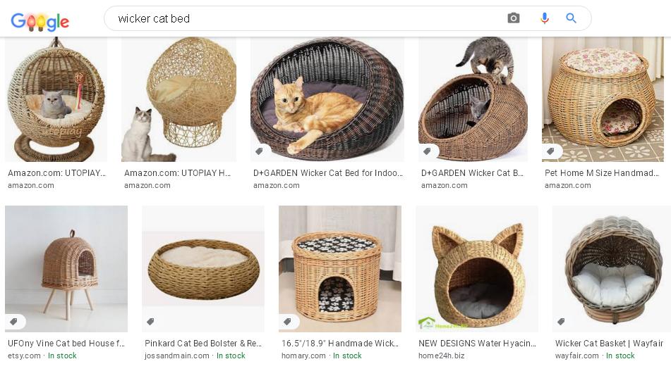 Аудит Этси магазина Ассортимент - Гугл США Домики для котов