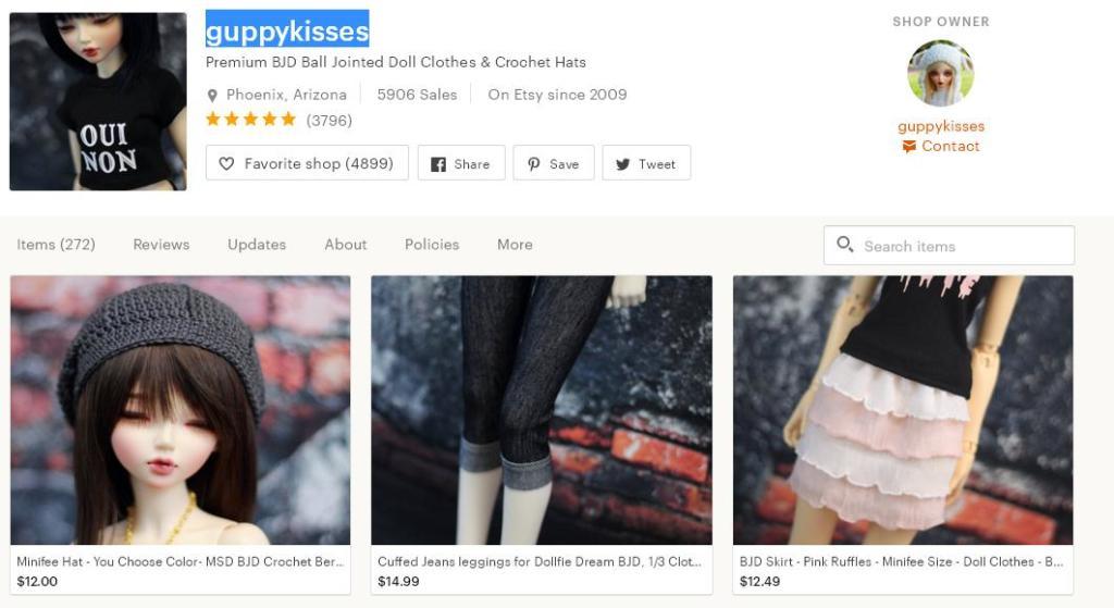 Что продавать на Etsy -  куклы магазин 1