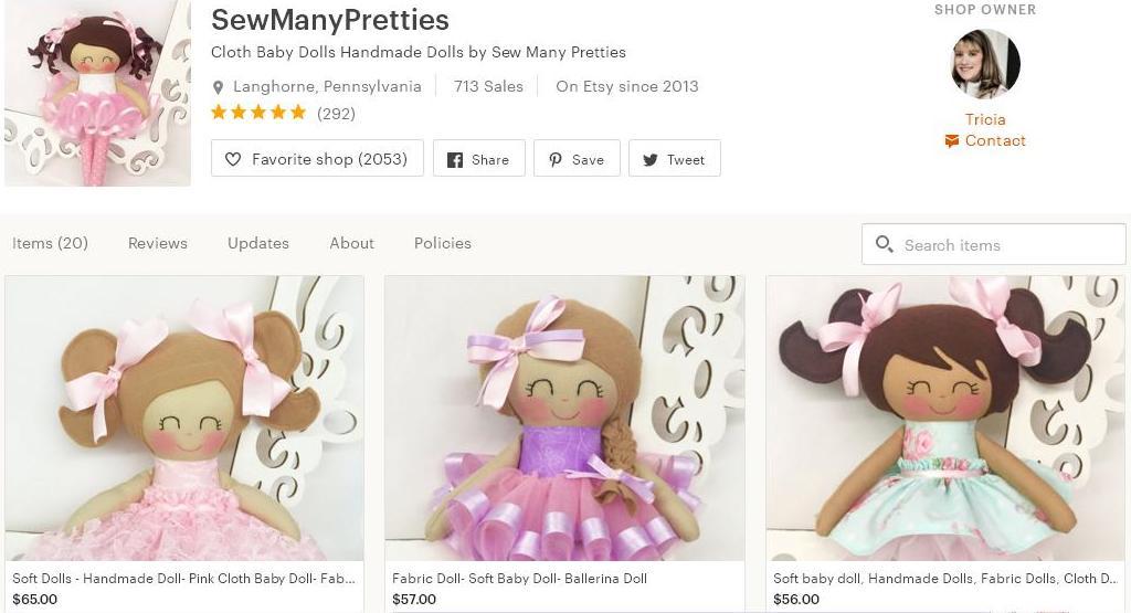 Что продавать на Etsy -  куклы магазин 3