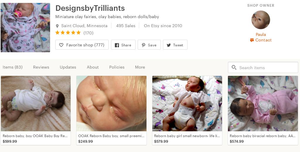 Что продавать на Etsy -  куклы магазин 4