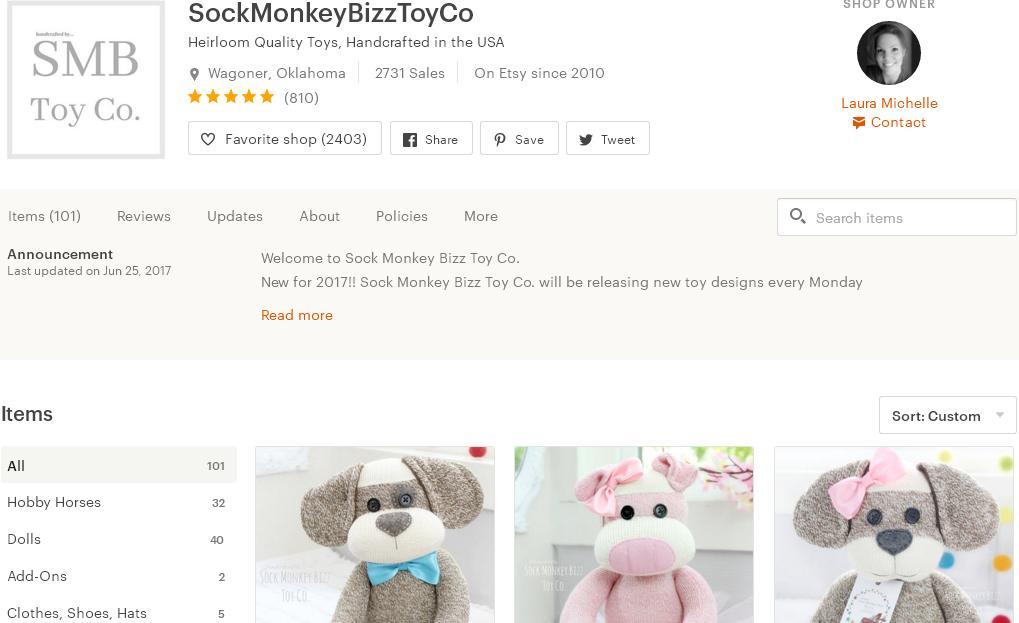 Что продавать на Etsy -  куклы магазин 5