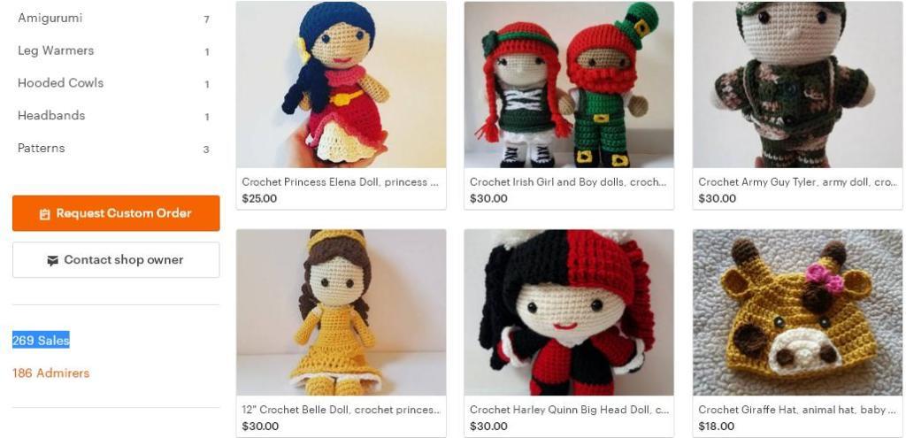 Что продавать на Etsy -  куклы магазин 7