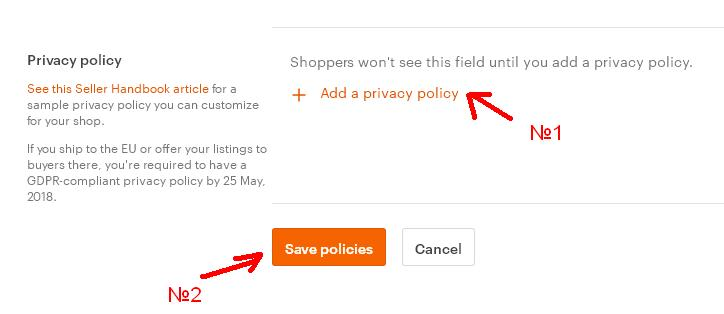 Etsy Privacy policy