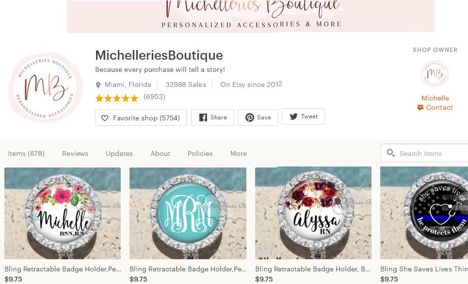 Etsy магазин – MichelleriesBoutique
