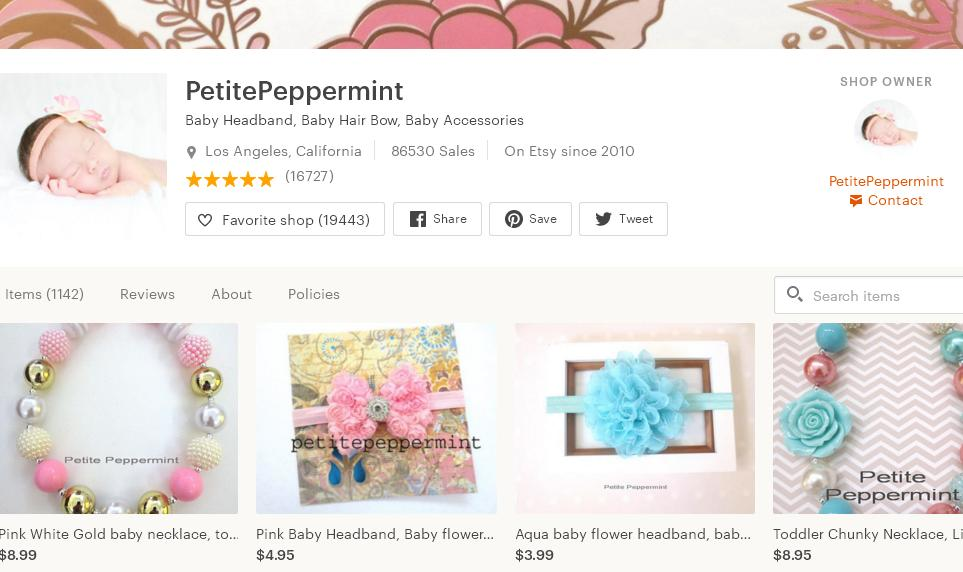 Etsy магазин – PetitePeppermint