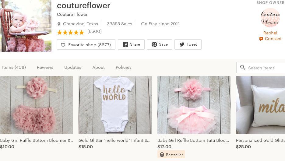 Etsy магазин – coutureflower