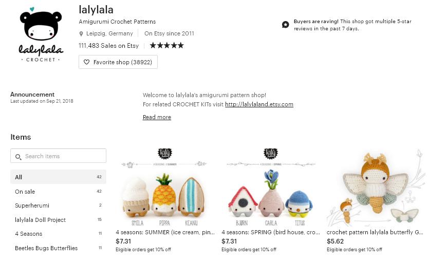 Etsy магазин - lalylala