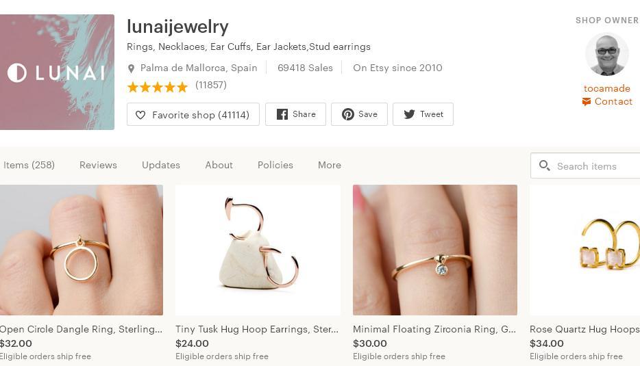Etsy магазин – lunaijewelry