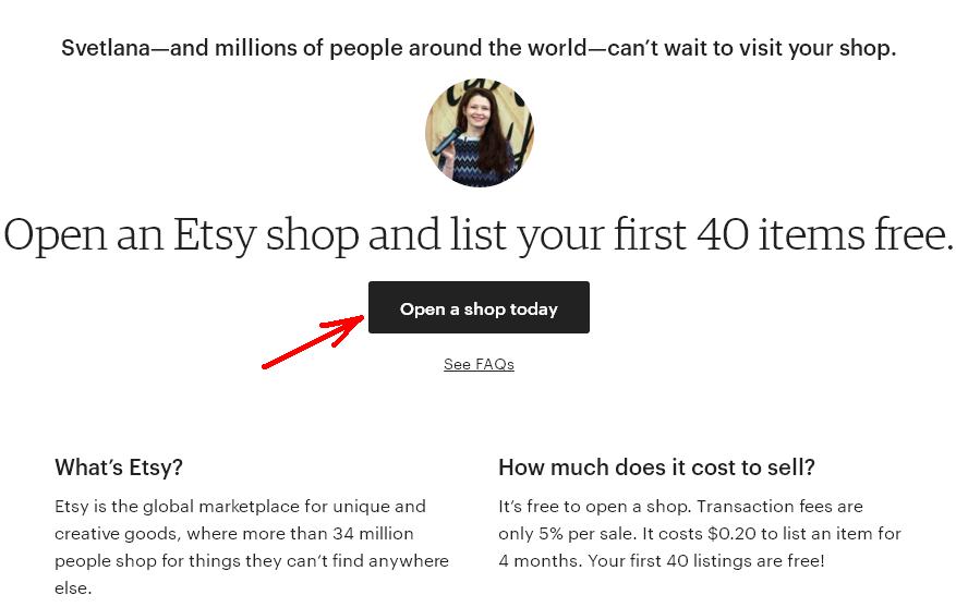 Etsy магазин з України. 5 - посилання запрошення на 40 безкоштовних лістингів