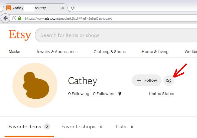 Etsy отзыв - аккаунт покупателя