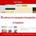Где продать хендмейд в Украине? 12 сайтов по продаже Хендмейд