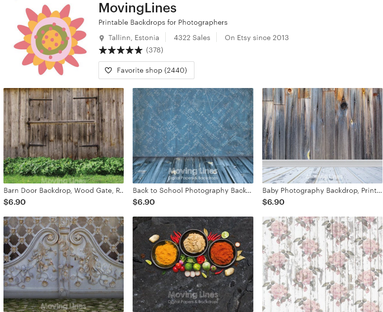 Цифровые товары на Etsy - 12 - MovingLines