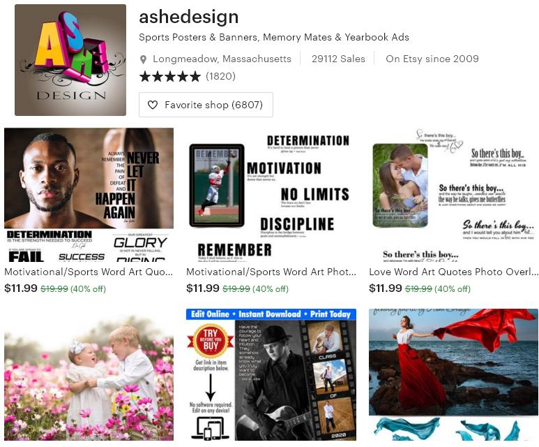 Цифровые товары на Etsy - 13 ashedesign