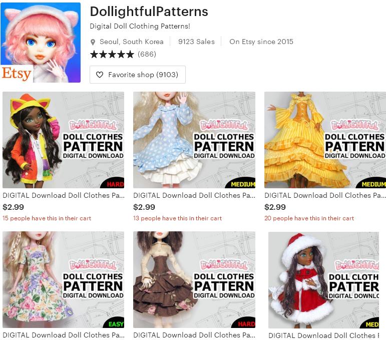Цифровые товары на Etsy - 14 -DollightfulPatterns