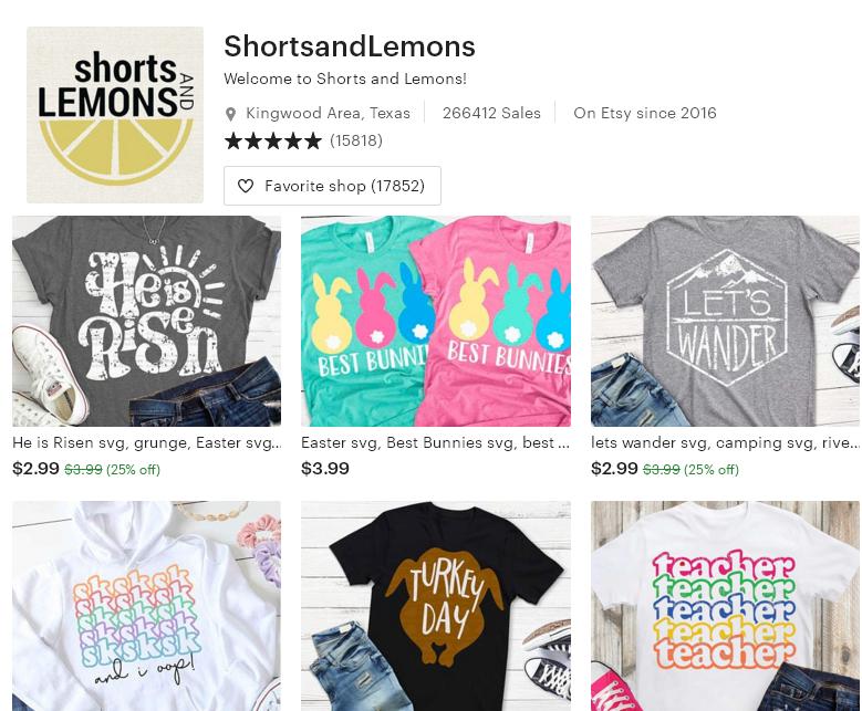 Цифровые товары на Etsy 3 - ShortsandLemons