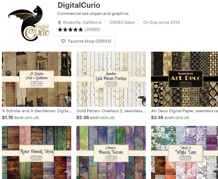 Цифровые товары на Etsy - 4 - DigitalCurio