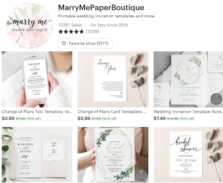 Цифровые товары на Etsy - 6  -MarryMePaperBoutique