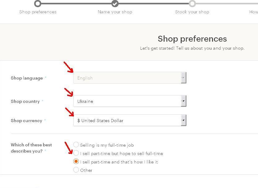Як відкрити Etsy магазин з України. 6 - заповніть Shop Preferences