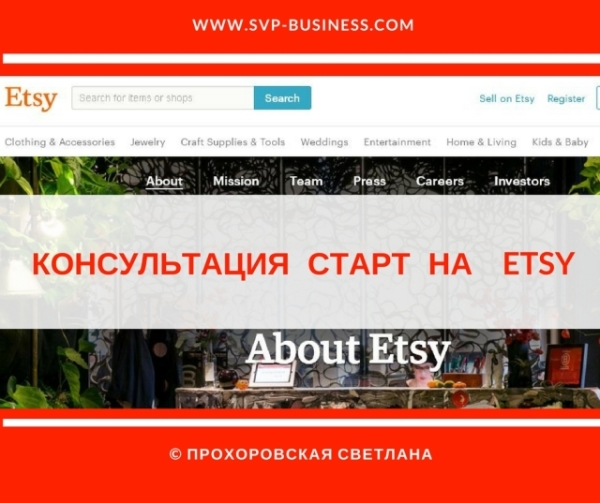 Консультация Старт на Etsy, консультация Аудит Etsy Магазина